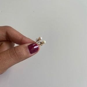 Mejuri 14k mini pearl earrings